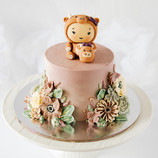 Double ox baby shower cake