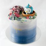 Baby blue jay cake