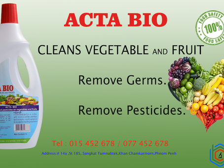 Acta bio launches the solution for cleaner vegetables and Fruits