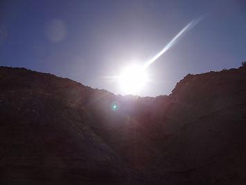 coucher de soleil dans le désert de Tabernas