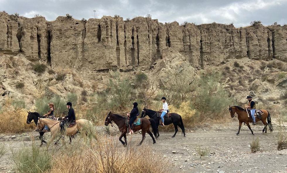 Balade à cheval 🐎🐎 dans le désert de Tabernas
