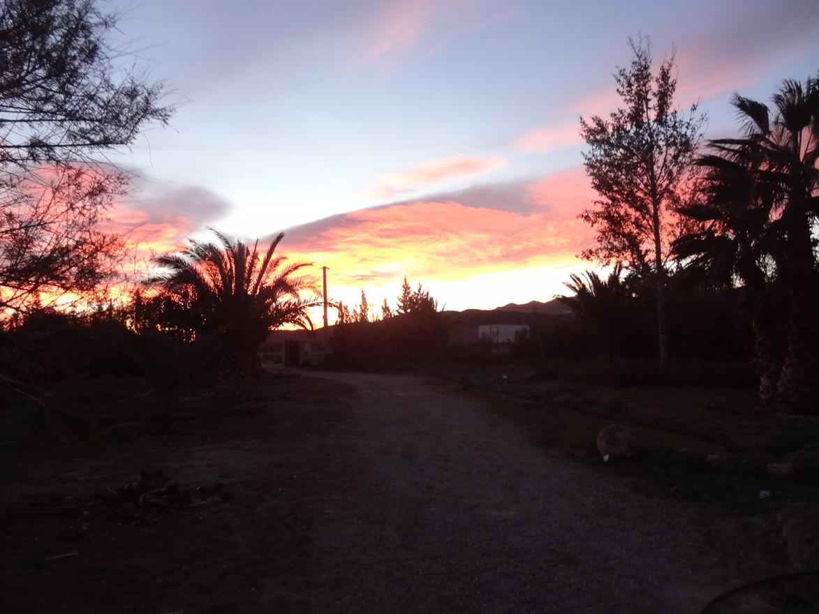 Coucher de soleil à Tabernas
