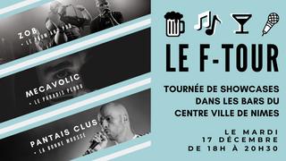 Le F-Tour, parcours de showcases dans la ville de Nîmes lance l'Itinéraire des Musiques Actuelle