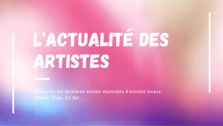 L'actualité musicale d'artistes locaux ! #3