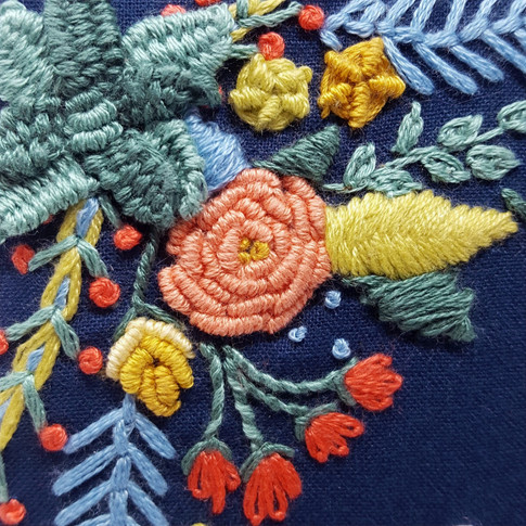 Detail of Floral Embroidery