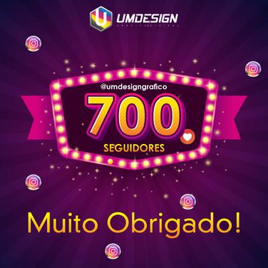 700 seguidores instagram @umdesigngrafic