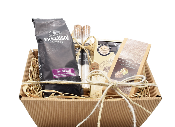 Geschenkkorb Schoko & Kaffee Genuss