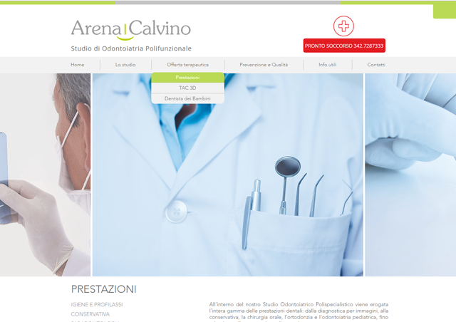 Il nuovo sito internet Arena e Calvino | Interfaccia desktop | AEIO
