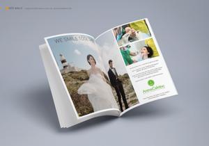 Doppia pagina pubblicitaria per i servizi wedding Arena e Calvino | AEIO