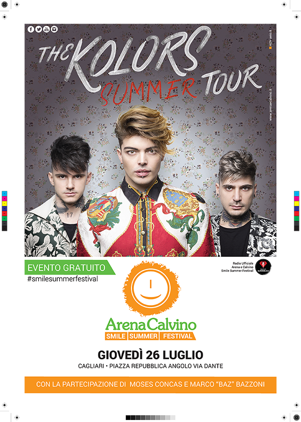 locandina concerto the kolors | AEIO advertising Cagliari