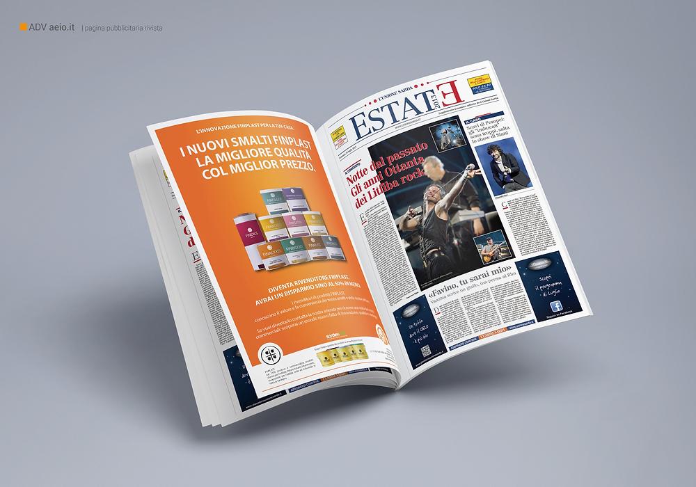 Grafica pubblicitaria su L'Unione Sarda | AEIO