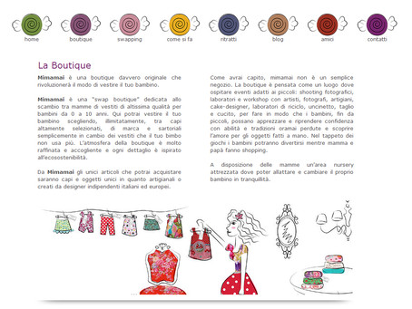 Restyling del sito web per Mimamai Boutique