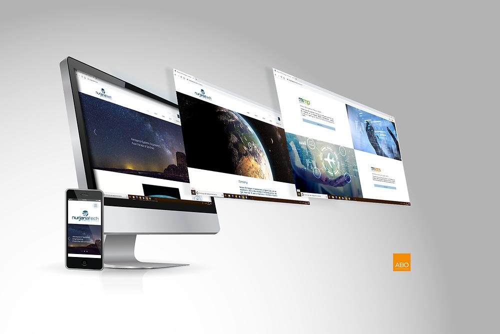 Progettazione del sito Nurjana Technologies | AEIO