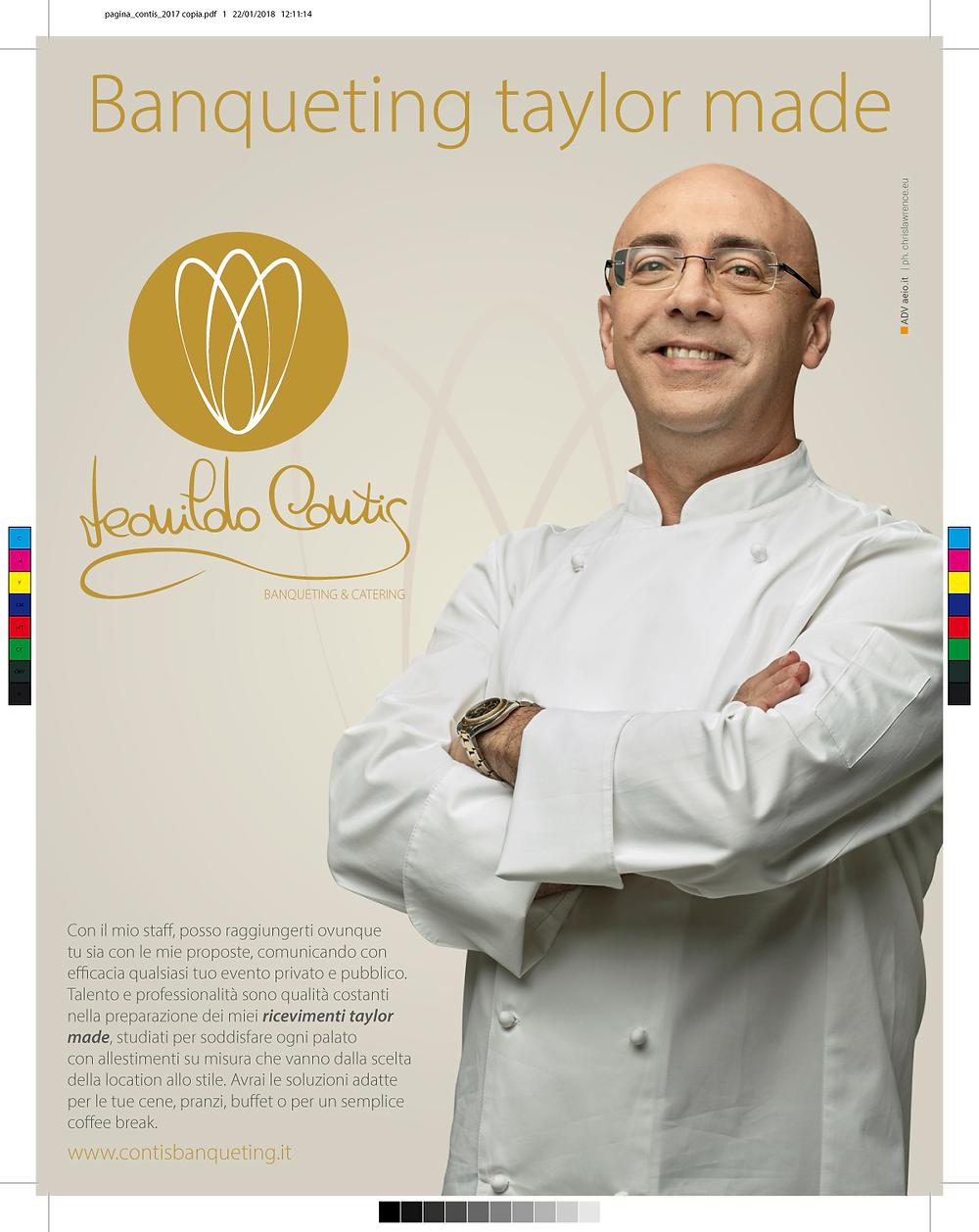 Banqueting Contis pagina pubblicitaria | AEIO advertising