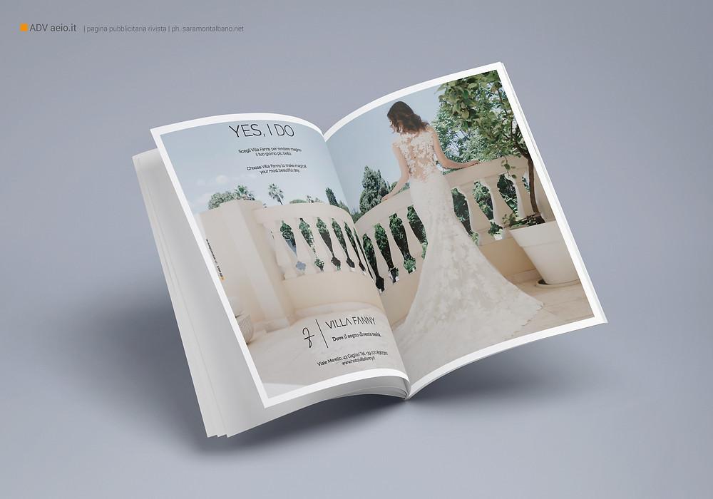 Doppia pagina pubblicità Hotel Villa Fanny | AEIO di Aurelio Pisano