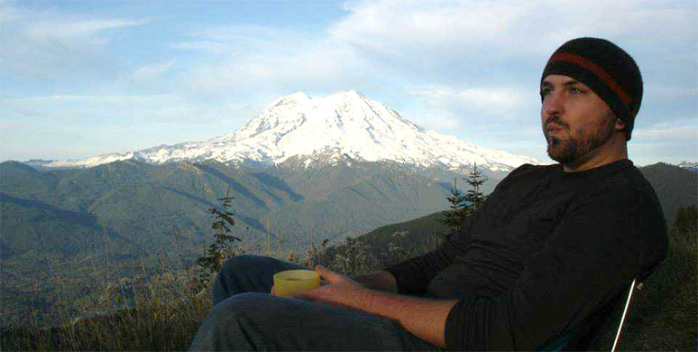 Hayden away from the office enjoys outdoor pursuits