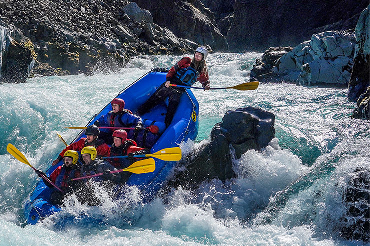 white water rafting in Iceland