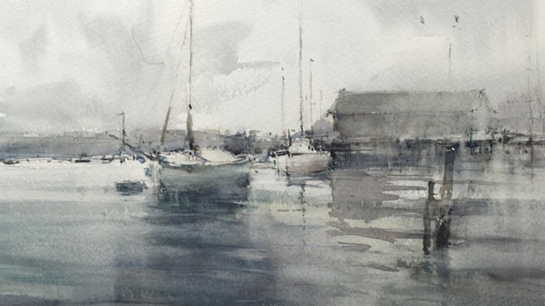 Moorings at West Mersea, Essex, UK