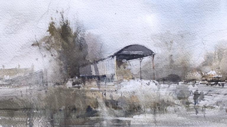Dutch barn, Fairford, Glos, UK