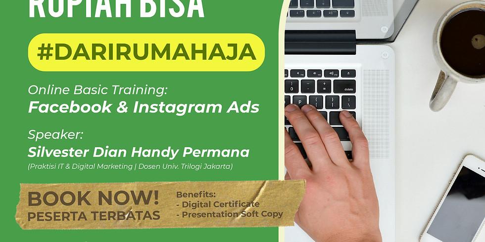 MENGHASILKAN RUPIAH DARI #DIRUMAHAJA   online basic training: facebook ads & instagram ads