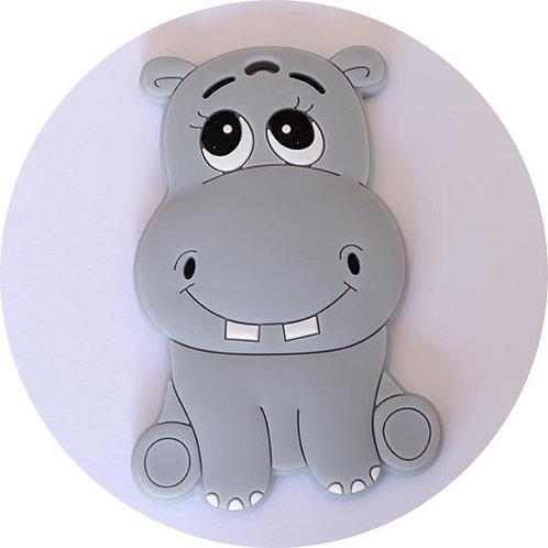 Happy Hippo ~ Grey