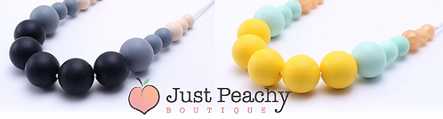 Multi Colour Round Silicone Teething Necklace