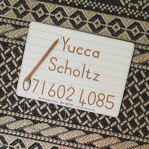 Name, Surname & Contact number