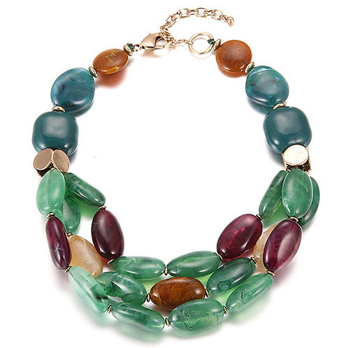 PEBBLE NECKLACE - GREEN