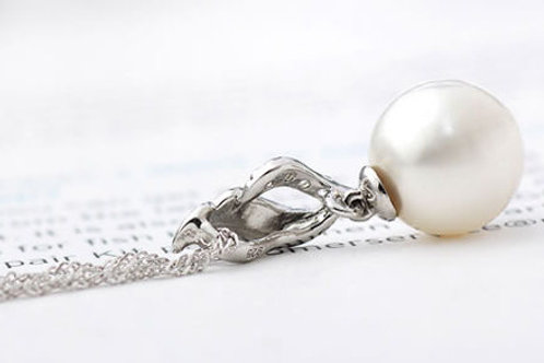 PEARL PENDANT SILVER CHAIN - ITALY