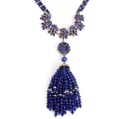 BLUE CRYSTAL NECKLACE - AUSTRIA