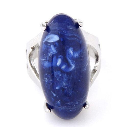 BLUE STONE PENDANT RING