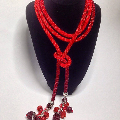 BOHO NECKLACE - RED