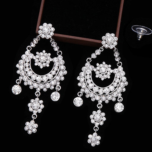 CHANDELIER EARRINGS - ZIRCON