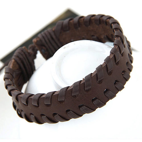 Men's Wristlet - Brown braid
