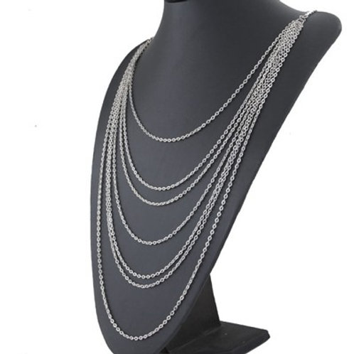 MULTILAYERED SILVER CHAIN