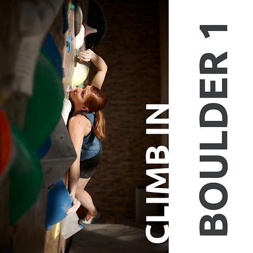 Курс  BOULDER 1 // Основы боулдеринга 1 уровень // 4 занятия