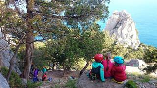 Заметки тренера о первой поездке младшей группы (6-9 лет)  на скалы в Симеиз, Крым