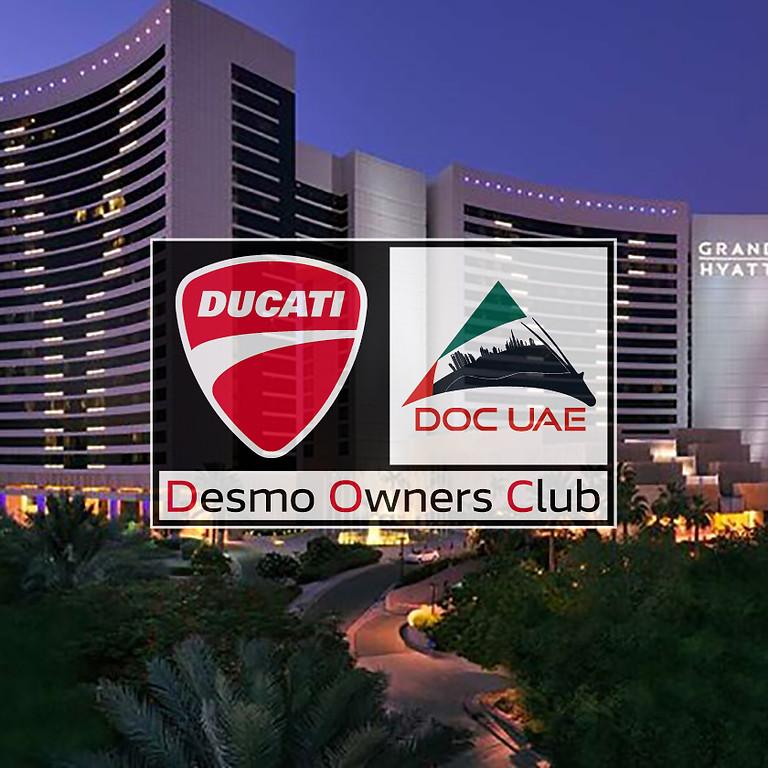 Bikes'N Karak for Ducati Owners at Grand Hyatt Dubai