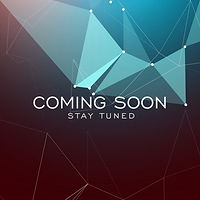 geometric-background-with-text-of-coming