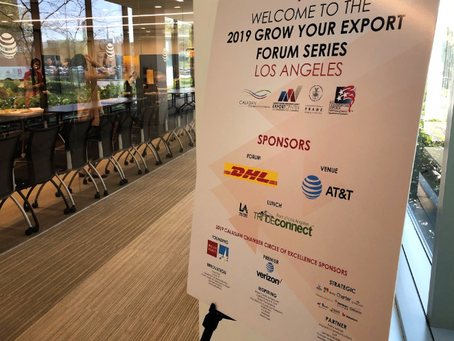 2019 Grow Your Export Forum Los Angeles Recap