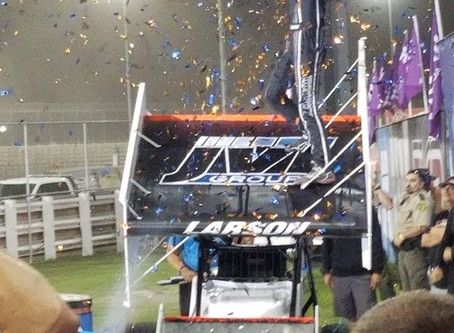 Larson Wins $50,000 at Knoxville