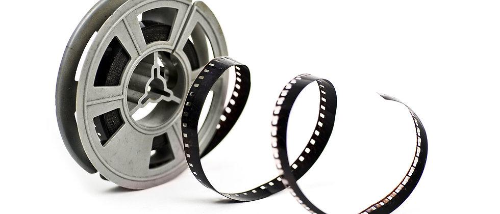 Up to 50ft 8mm Cine Film transfer