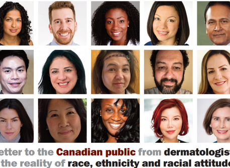 Press Release: Canadian Dermatologists Condemn Racism