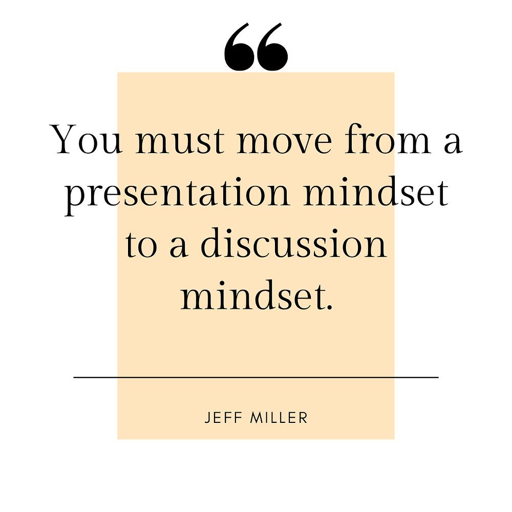 Presentation Mindset Quote