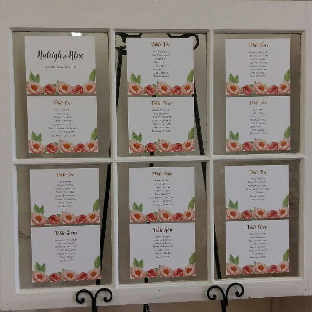 Hailey Seating Chart