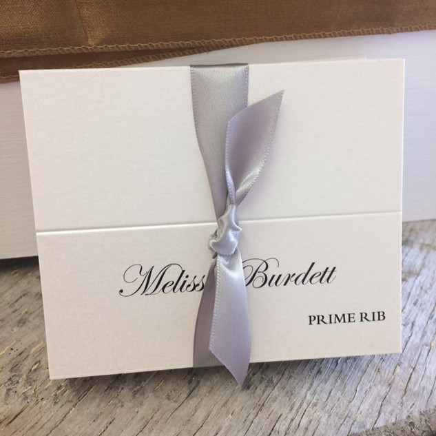 white placecards