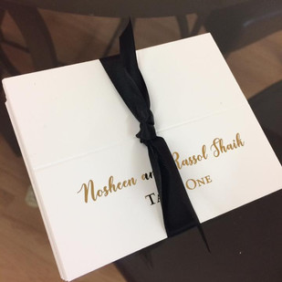 gold foil placecards
