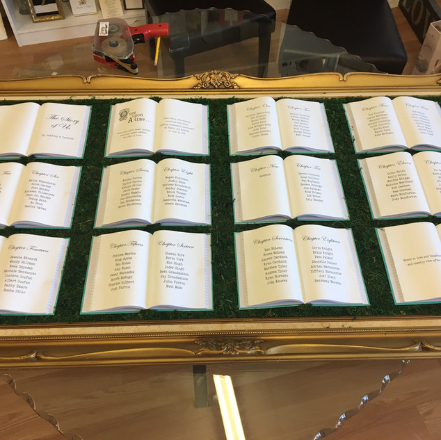 Story Book Seating Chart