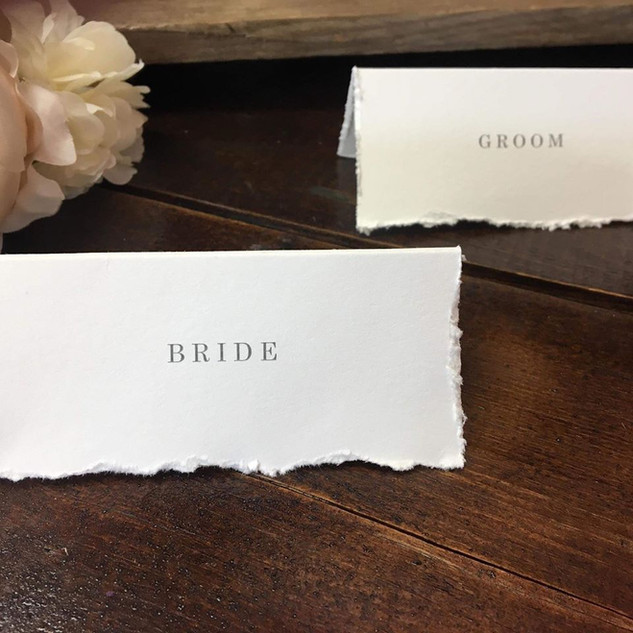 deckled edge place cards