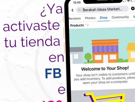 ¿Cómo activar tu tienda en Instagram o Facebook?